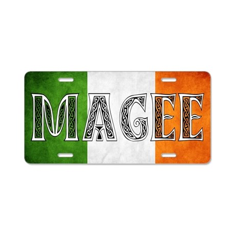 Magee Shield Aluminum License Plate