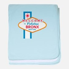 Welcome to Bronx baby blanket