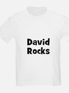 David Rocks Kids T-Shirt
