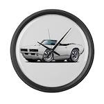 1968-69 GTO White Convert Large Wall Clock