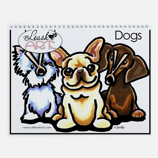 Funny Dog Lover Cartoons Wall Calendar