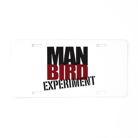 Pretentious Aluminum Manbird License Plate