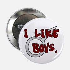 I Like Boys Button