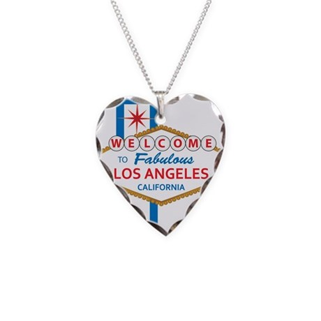 Welcome to Los Angeles Necklace Heart Charm