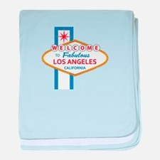 Welcome to Los Angeles baby blanket
