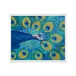 Peacock Blue/Magenta Throw Blanket