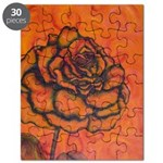 Rose Puzzle Red/Orange