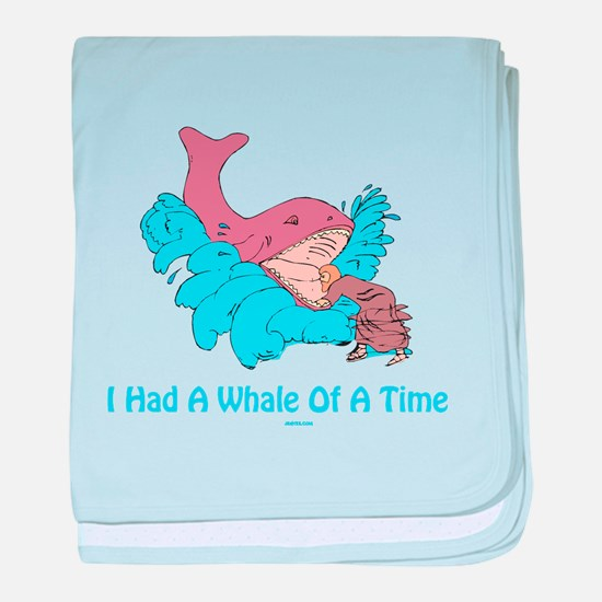 Whale of a Time Jonah baby blanket