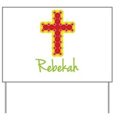 Rebekah Bubble Cross Yard Sign