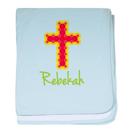 Rebekah Bubble Cross baby blanket