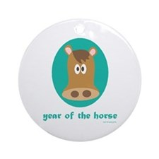 Year of the Horse (kids) Ornament (Round)