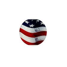 WAVING, USA FLAG, Mini Button