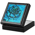 Aqua Rose Keepsake Box