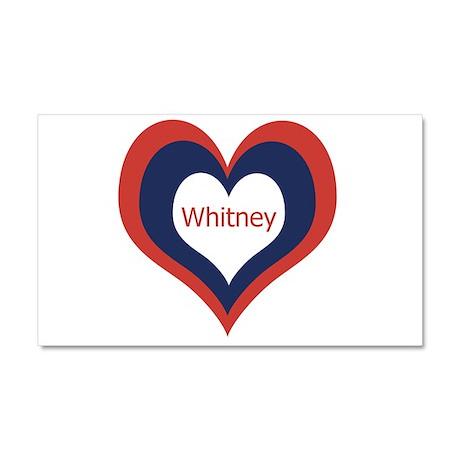 Whitney - Car Magnet 20 x 12