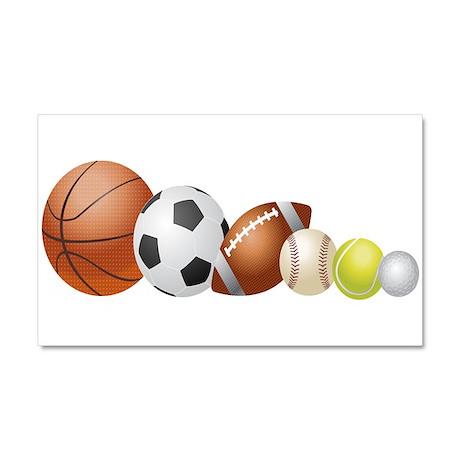 Balls of Sports - Car Magnet 20 x 12