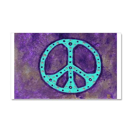 Purple Peace - Car Magnet 20 x 12