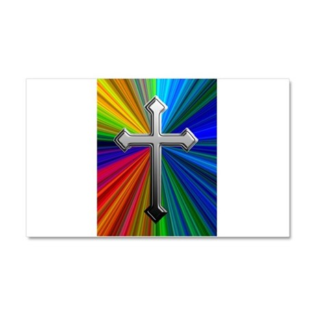 Chrome Cross on Prism - Car Magnet 20 x 12