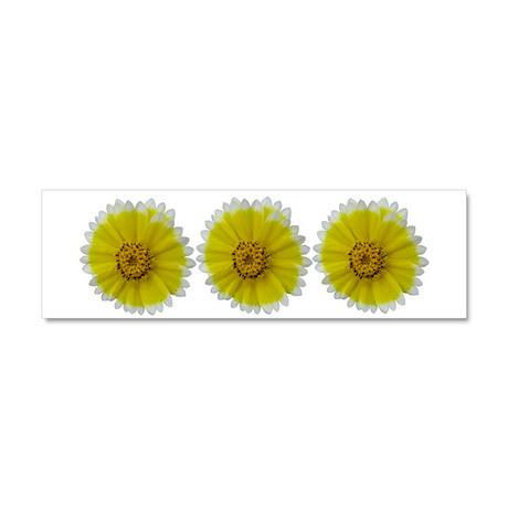 Yellow Flower - Car Magnet 10 x 3