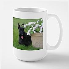 Dugan with Petunias Mug
