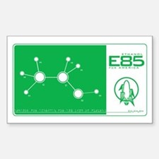 E85 Ethanol Rectangle Decal