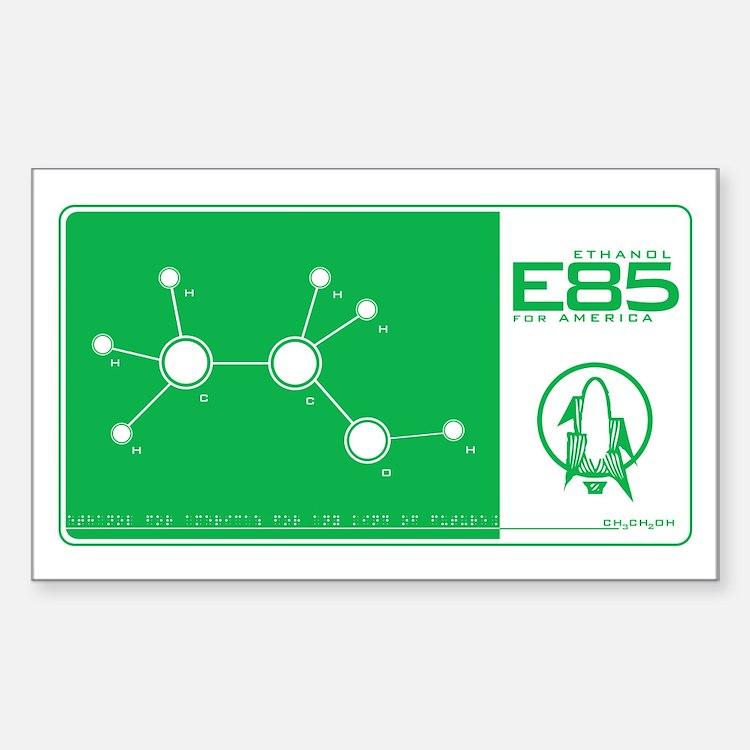 E85 Ethanol Rectangle Decal