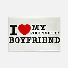 I love my Firefighter Boyfriend Rectangle Magnet