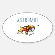 Astromut Jr's Oval Decal