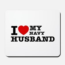 I love my Navy Husband Mousepad
