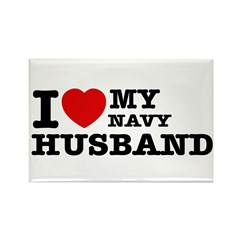 I love my Navy Husband Rectangle Magnet