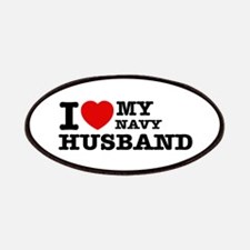 I love my Navy Husband Patches