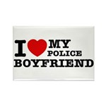 I love my Police Boyfriend Rectangle Magnet (10 pa