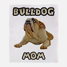 Bulldog Mom Throw Blanket