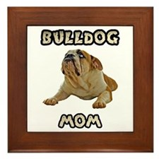 Bulldog Mom Framed Tile