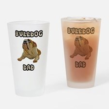 Bulldog Dad Drinking Glass