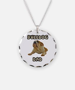 Bulldog Dad Necklace