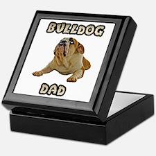 Bulldog Dad Keepsake Box