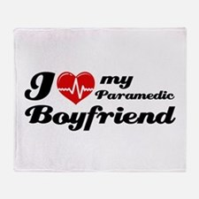 I love my Paramedic Boyfriend Throw Blanket