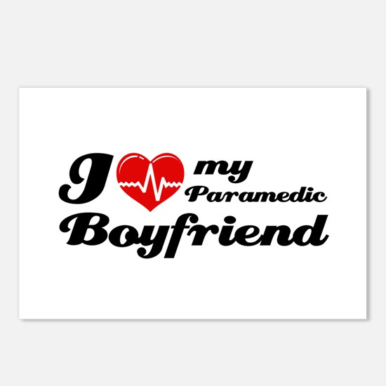 I love my Paramedic Boyfriend Postcards (Package o