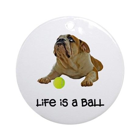 Bulldog Life Ornament (Round)