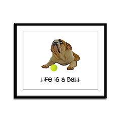 Bulldog Life Framed Panel Print