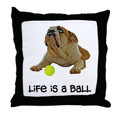 Bulldog Life Throw Pillow
