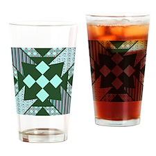 Green Diamonds Drinking Glass