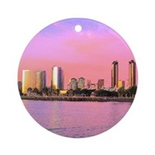 SAN DIEGO SKYLINE Ornament (Round)