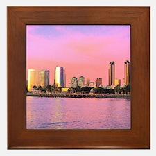 SAN DIEGO SKYLINE Framed Tile
