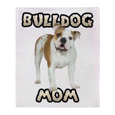 Bulldog Mom Throw Blanket