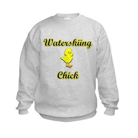 Waterskiing Chick Kids Sweatshirt
