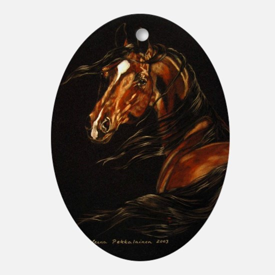 In the Wind Ornament (Oval)