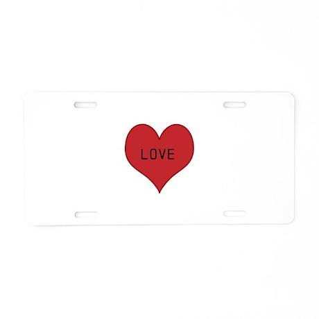 Aluminum License Plate - LOVE