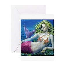 Maroon Mermaid Greeting Card