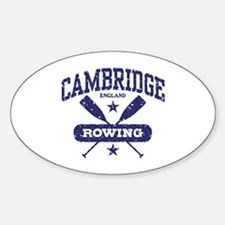 Cambridge England Rowing Sticker (Oval)